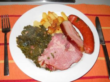 Rezept: Grünkohl mit Kasseler und Kohlwurst
