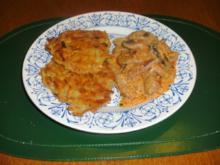 Bœuf Stroganoff  mit Kartoffelrösti - Rezept