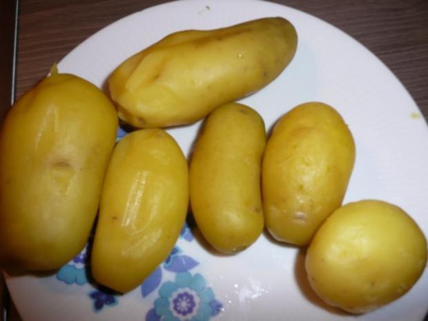 Kartoffelsalat warm,dazu Fleischkäse selber gebacken. - Rezept - Bild Nr. 4
