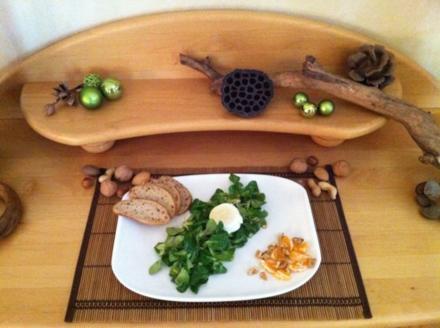 Feldsalat mit Walnüssen an Clementinen Vinaigrette - Rezept