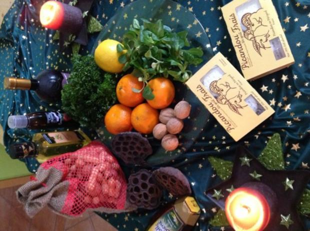 Feldsalat mit Walnüssen an Clementinen Vinaigrette - Rezept - Bild Nr. 3