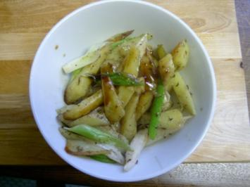 Asia - Pommes Frites mit Weißem Spargel - Rezept