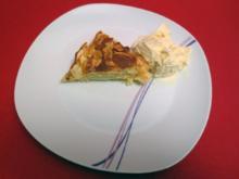Apfelkuchen mit Vanilleeis - Rezept