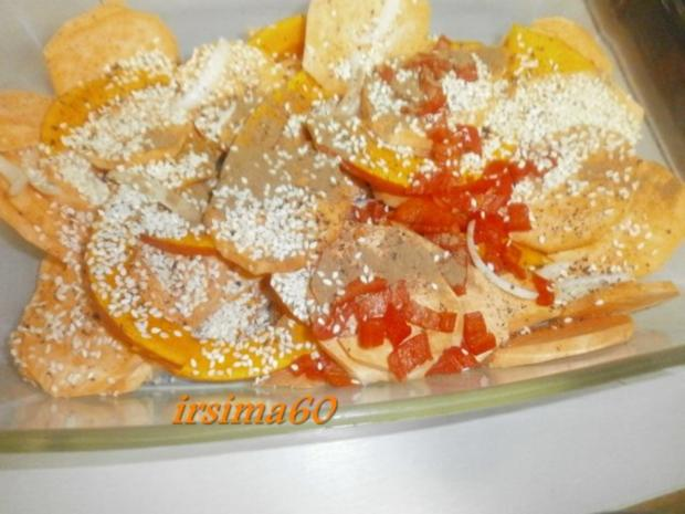Kürbis mit Süßkartoffeln aus dem Backofen - Rezept - Bild Nr. 4