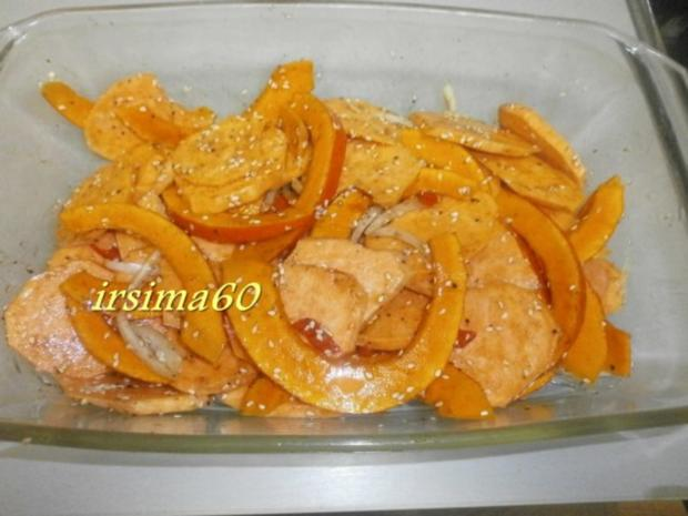 Kürbis mit Süßkartoffeln aus dem Backofen - Rezept - Bild Nr. 5
