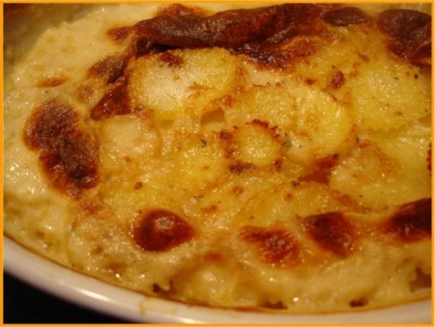 Pikantes Hähnchen mit Möhrenblüten und Kartoffelblütengratin - Rezept - Bild Nr. 30