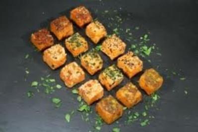Räucherfischrillette mit gerösteten Brotscheiben - Rezept