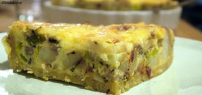 Rezept kartoffel lauch quiche