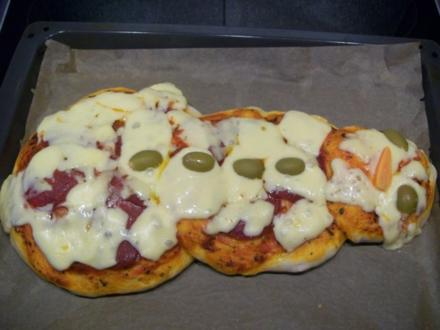 Schneemann Pizza - Rezept
