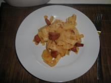 Cabanossi mit Kartoffeln und Nudeln - Rezept
