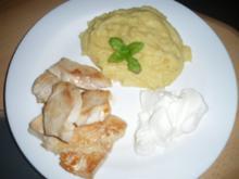 Hühnchen mit Polenta und Schmand - Rezept