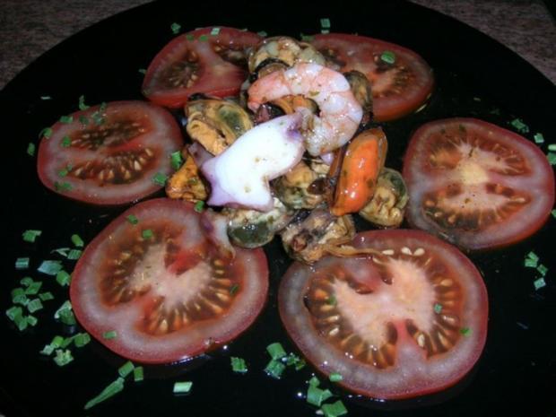 Meeresfrüchtesalat - kleine Vorspeise - - Rezept