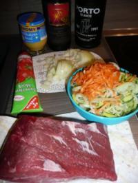 Kartoffelknödel Variation & Bratenfleisch & Feldsalat - Rezept