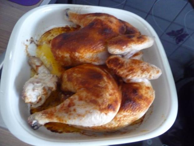 3. Adventsessen / Adventsmenü Orangenhähnchen in Rosinensoße mit Rosenkohl und Kartoffeln - Rezept - Bild Nr. 8