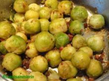 Gemüse:   ROSENKOHL in Schinkenwürfel - Rezept
