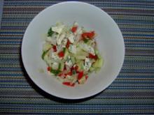 Würzig-pikanter gemischter Käsesalat mit Blauschimmelkäse - Rezept
