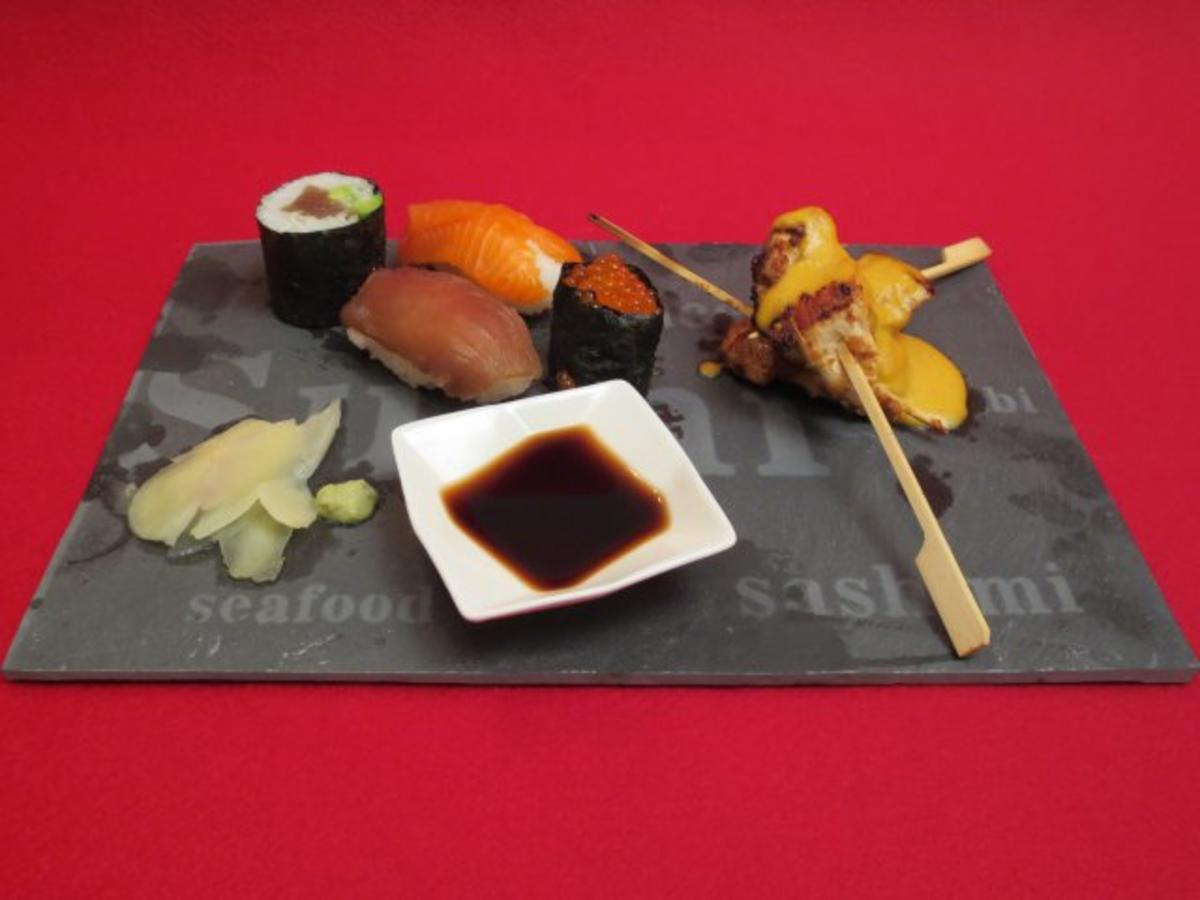 Sushi und Sate-Spieße - Rezept Eingereicht von Das perfekte Dinner