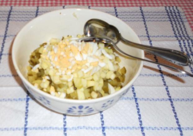 "Feiner Kartoffelsalat à la  ""Oòrndrasch"", mit selbstgemachter Majo. (Rzpt. um 1976) - Rezept - Bild Nr. 4"