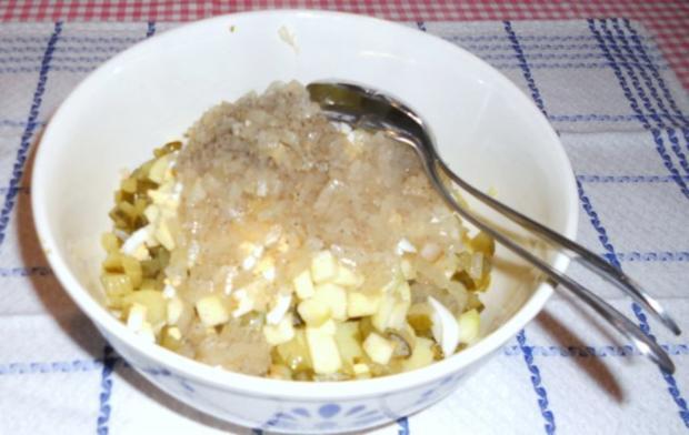 "Feiner Kartoffelsalat à la  ""Oòrndrasch"", mit selbstgemachter Majo. (Rzpt. um 1976) - Rezept - Bild Nr. 5"