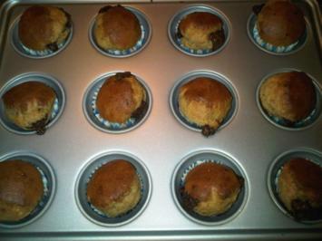 Rezept: Hefe-Muffins mit Schokokern