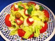 Römersalat mit Serrano-Röllchen ... - Rezept