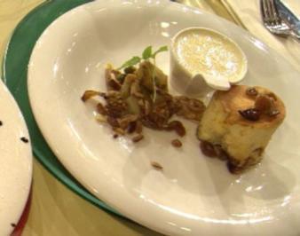 Variation vom Bratapfel mit Vanillecreme à la Freitag - Rezept