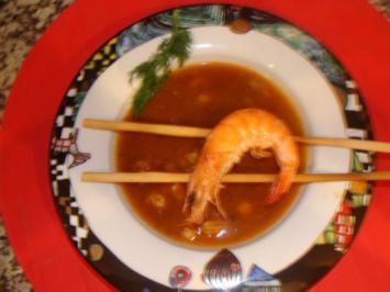 Suppen : Festl.Garnelensuppe vom allerfeinsten ! - Rezept