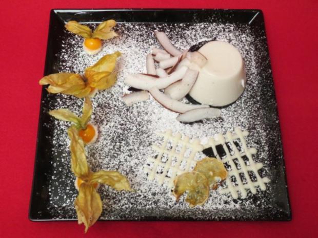 Kokos-Zitronengras-Panna Cotta - Rezept