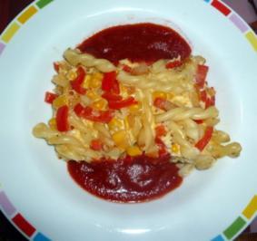 Nudelfrittata mit Tomatensause - Rezept
