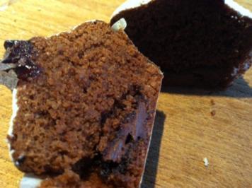 Schoko Muffins mit cremigen Kern - Rezept