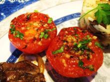 Brat-Tomaten mit Knoblauch ... - Rezept