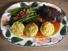 4. Adventsessen - Rouladen gefüllt an Speckbohnen und Kartoffelmuffins - Rezept