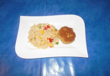 Salat: Reisnudelsalat und Fischbouletten - Rezept