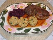 Heilig Abend Essen 2012 : Entenbrust an Rotkohl dazu Kartoffel-Semmelknödel - Rezept