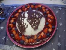 Dessert: Joghurtbombe auf Fruchtspiegel - Rezept