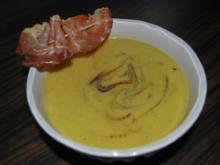 Linsencremesuppe mit Curry und Ingwer - Rezept
