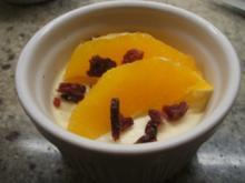 Dessert: Orangen-Sahne-Joghurt - Rezept