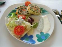 Spinat-Lachsrolle - Rezept