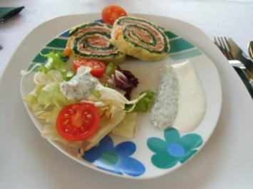 Rezept: Spinat-Lachsrolle