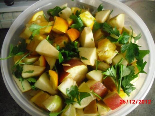 Gans mit Orangen-Apfel-Füllung - Rezept - Bild Nr. 3