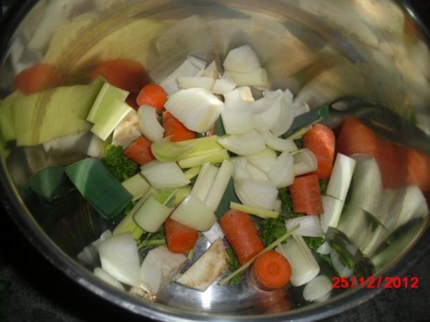 Gans mit Orangen-Apfel-Füllung - Rezept - Bild Nr. 6
