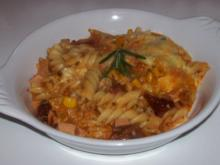 Pikanter Nudel-Gemüse-Auflauf mit Raclette-Käse - Rezept