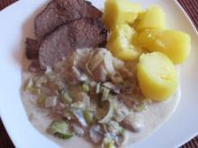 Rinderbraten mit Poree - Champignons Gemüse - Rezept
