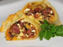 Tapas & Fingerfood: Empanada mit Chorizo und Feta - Rezept