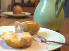 Gebackene Äpfel mit süsser Béchamelsauce - Rezept