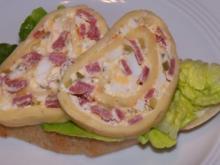 Canapé mit Käserolle - Rezept