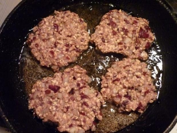Würzige Bohnenbratlinge mit Haferflocken (auch für Burger geeignet!) - Rezept - Bild Nr. 7