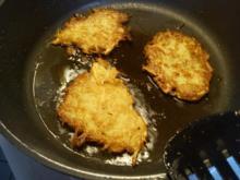 Kartoffelpuffer mit Creme Fraiche Dip - Rezept