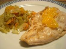 Forellenfilets mit Fenchel-Gelbe-Rüben-Gemüse - Rezept