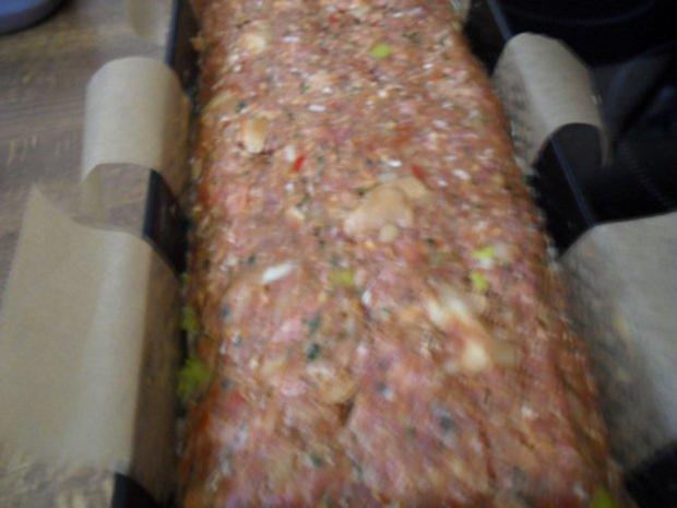 Hackbraten gefüllt mit Lauch und Champignons aus dem Ofen - Rezept - Bild Nr. 8